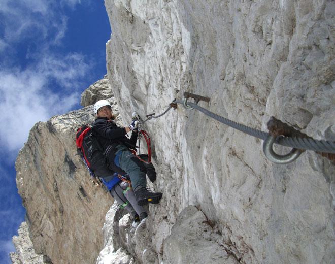 Klettersteig Buchstein : Klettersteigkurs für fortgeschrittene